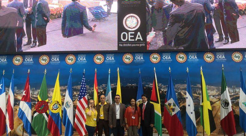 ADS presente en la 49 Asamblea de la Organización de Estados Americanos